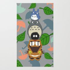 Totem Toto-ro  Rug by Canis Picta - $28.00  I really need this in phina's room