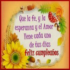 tarjetas-de-feliz-cumpleaños-cristianas-dias Happy Birthday Wishes Cards, Birthday Wishes For Friend, Spanish Birthday Cards, Daisy, Birthdays, Baby Shower, Blog, Facebook, Emoji