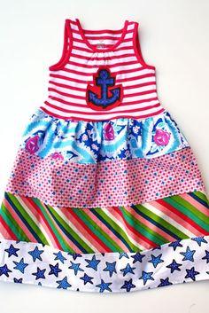 Sailor girl - love the mix of fabrics