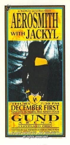 1994 Aerosmith Concert Handbill by Mark Arminski (MA-013)