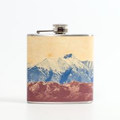 groomsman gifts... Mountain Landscape Flask