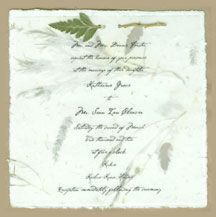Recycled Paper Response from Handmade Paper Wedding Invitations - Custom Made with Pressed and Dried Flower Recycled, Seed and Petal options