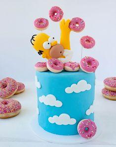 Pretty Birthday Cakes, Cute Birthday Cakes, Pretty Cakes, Cute Cakes, Fondant Birthday Cakes, Birthday Ideas, Cake Wrecks, Bolo Simpsons, Fondant Cakes