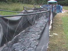 homemade waterslides | Bradley's Home-Made Water Slide