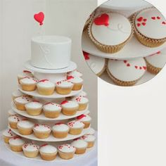 Charming Valentine's Wedding Cupcakes. http://memorablewedding.blogspot.com/2014/01/charming-valentines-wedding-cakes.html