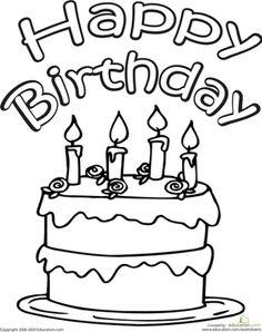 Color the Happy Birthday Cake Birthdays Kindergarten Holiday Worksheets: Color the Happy Birthday Cake The post Color the Happy Birthday Cake appeared first on Ideas Flowers. Happy Birthday Flower, Happy 4th Birthday, Birthday Cards For Boys, Happy Birthday Images, Happy Birthday Cards, Birthday Cake, Birthday Parties, Happy Birthday Printable, Birthday Charts