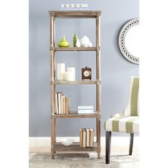 "August Grove Roberts Sheft 67"" Etagere Bookcase Finish:"
