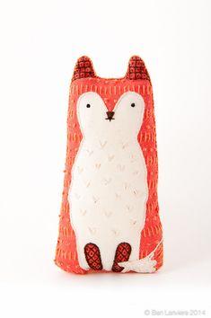Fox Embroidery Kit Needlework Kit DIY Kit Plushie