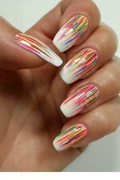40 pretty gel nails 2018 summer trends my style nail ideas for Colorful Nail Designs, Nail Designs Spring, Beautiful Nail Designs, Nail Art Designs, Nails Design, Spring Nail Art, Spring Nails, Summer Nails, Pretty Gel Nails