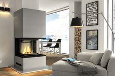 Eleganckie kominki nowoczesne - Hajduk, kominek na bazie wkładu Smart 3PLh #design #kominek #interior #dom #wnętrze