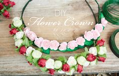 DIY: Flower Crown | TheTwiddles.com
