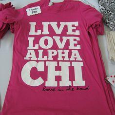 Live. Love. Alpha Chi. #loveisinthebond
