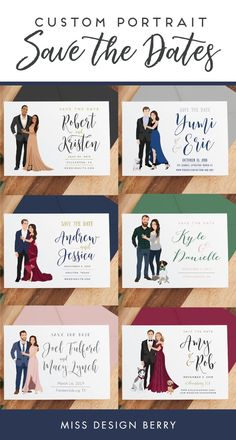 Our Penny Style Wedding Save the Date cards are the perfect way to save the date in a fun and creative way, and feature an a custom illustrated couple portrait. We can customize the wording however you like and can also change colors and fonts. You can ev Berry Wedding, Fall Wedding, Our Wedding, Dream Wedding, What To Wear To A Wedding, Wedding Themes, Wedding Designs, Wedding Cards, Wedding Invitations