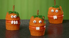 Cake mix, frosting and decorations make these scary cupcakes the perfect Halloween treat.
