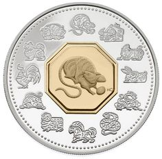 $15 2008 Lunar Cameo Coin - Year of the Rat | Royal Canadian Mint ...