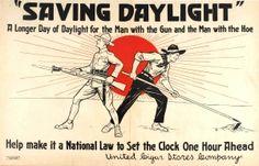 Saving Daylight WWI USA Cigar Stores Company, 1910s - original vintage poster listed on AntikBar.co.uk