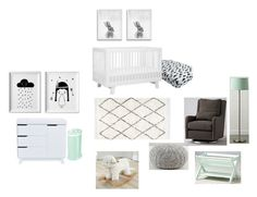 """Babyletto Nursery"" by hanli29 on Polyvore featuring interior, interiors, interior design, home, home decor, interior decorating and Pottery Barn"