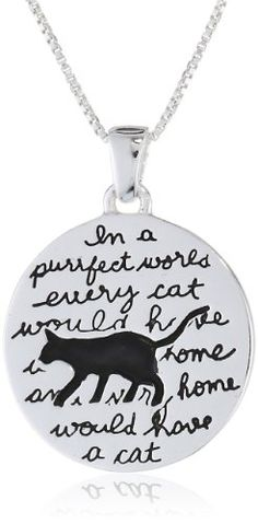 Cute Cat Quote Necklace