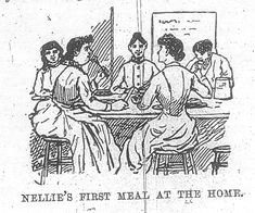 Ten Days in a Mad-House - Nellie's first meal at the home. Edwardian Era, Victorian, Nellie Bly, Women In America, Psych, Georgian, Regency, Beautiful Creatures, Business Women
