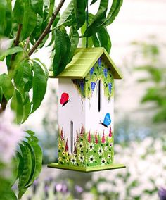 A butterfly house. I have no idea if they'd actually look for shelter there, but it is pretty to look at. #garden