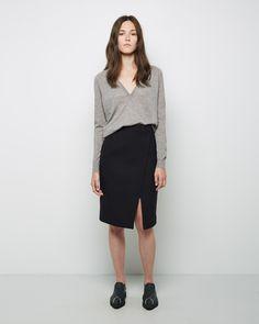 Proenza Schouler  Front Slit Pencil Skirt | La Garçonne