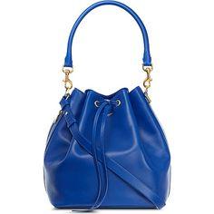 SAINT LAURENT Medium bucket bag (Bleu majorelle