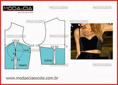Escola Moda e Cia: Top Cropped para o Verão!