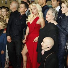 The cast of American Horror Story: Hotel at the Red Carpet Premiere Event