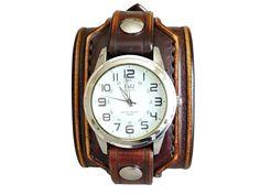 Hnědočerné+pánské+hodinky,+steampunk+hodinky+III+Pásek+na+hodinky+z+přírodní+kůžee+(+zákazková+výroba+)+Barva:+vintage+hnědá+Šířka:+55+mm+Hodinky+Q&Q+Hodinky+vyrobím+podľa+požiadavky+tak+aby+sedeli+na+vašu+ruku.+Pred+kúpou+mi+napíšte+správu+a+dohodneme+sa.