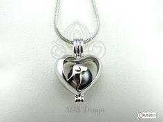 5pcs Nouveau Rainbow Coloré Double Coeur Perle Cage Pendentif pour Akoya Oyster Pearl