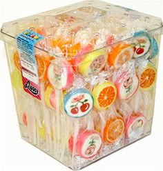 Polish Flower and Fruit Design Fruit Flavored Lollipops - Small - Lizaki Deseniowe $32.00
