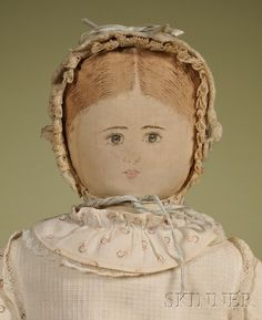 Moravian Cloth Doll by Polly Heckewelder   Sale Number 2476, Lot Number 63   Skinner Auctioneers