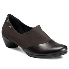 Shop womens shoes - ECCO Sculptured GTX Slip On at ECCO USA. These shoes from our womens collection are perfect for women looking for formal shoes. Ecco US Online Store Comfortable Heels, Comfy Shoes, Shoe Boots, Shoes Sandals, Waterproof Shoes, Casual Loafers, Formal Shoes, Character Shoes, Fashion Shoes