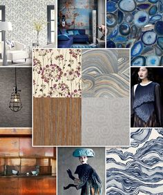 Organic patterning as textural modern geometrics.  From the runway to your walls, York Wallcovering designs exciting new wallpapers.  Find them at lelandswallpaper.com. #wallpaperisback