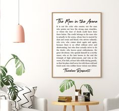 The Man In The Arena Printable Art, Inspirational Quote Poster, Theodore Roosevelt Daring Greatly, P Printing Websites, Online Printing, Quote Posters, Quote Prints, Daring Greatly, Office Printers, Bathroom Prints, Theodore Roosevelt, Apt Ideas