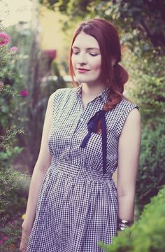 How to wear a gingham print shirt dress