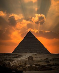 Sunset behind the Pyramid of Khafre in Gizah Egypt | by James J. Cruz [1080 x 1350]