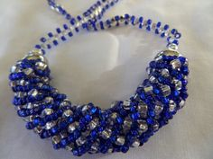 Russian spiral in blue and silver