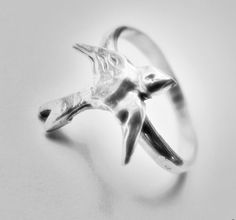 Little Bird Sterling Stacking Ring Cute Little by HisHeartMyArt, $36.00