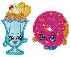 SHOPKINS 5  Machine Applique Embroidery  2 by Embroiderblock