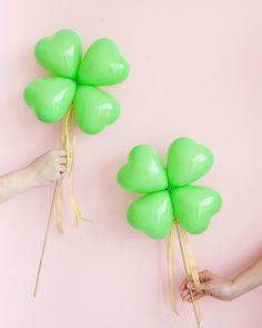 Clover Balloon Sticks DIY   Oh Happy Day!