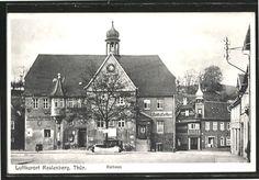 alte Postkarte - Rathaus mit Sparkasse - 1948