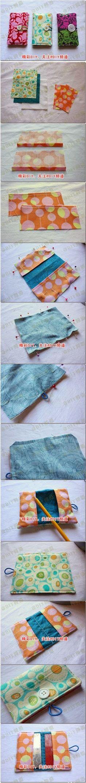 DIY : Color Fabric Card Wallet