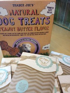 Doggie treats! Quick and easy with our Stampin Up Tag a Bags ($3.95/10) www.lisah.stampinup.net  Other Products used: Burplap ribbon, Chevron Embossing Folder, Storybook Friends Stamp Set or Digital Download