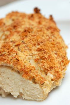 Buttermilk Baked Chicken  This recipe is the perfect combination of both worlds. You get that delectable crunch that fried chicken has, but without all that extra grease and fat! The addition of Parmesan cheese to the bread crumbs does add a few extra calories, but it adds a great flavor to the finished dish.