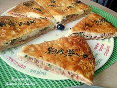 pizza couverte a la pate magique Bonjour tout le monde,  Une recette vite faite et bien faite p...