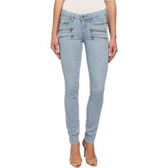 Paige Edgemont Ultra Skinny in Cruz No Whiskers Women's Jeans, Blue ($168) ❤ liked on Polyvore featuring jeans, blue, zipper skinny jeans, super stretchy skinny jeans, stretch skinny jeans, blue jeans and mid-rise jeans