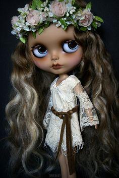OOAK Custom Blythe Doll #87 ~ Ashby 'Little Bohemian Girl' ~ by G.Baby