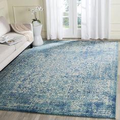 Safavieh Evoke Vintage Oriental Blue/ Ivory Distressed Rug (8' x 10')