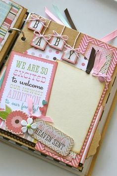 embellishment idea for baby book